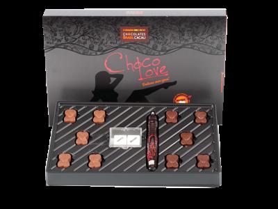 CAIXA CHOCOLATE COM CANETA -R$ 38,50 - CHOCOLATES BRASIL CACAU