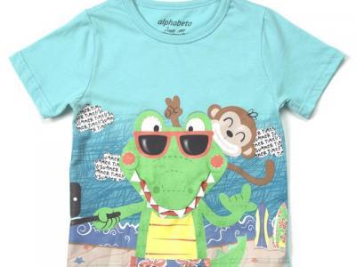 Camiseta masculina com fantoche - Alphabeto - R$ 39,95