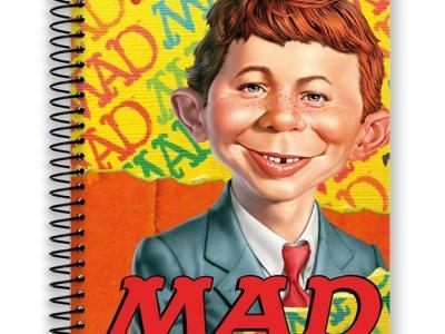 Caderno capa dura de 15 matérias Mad - R$ 12,50 - Kalunga