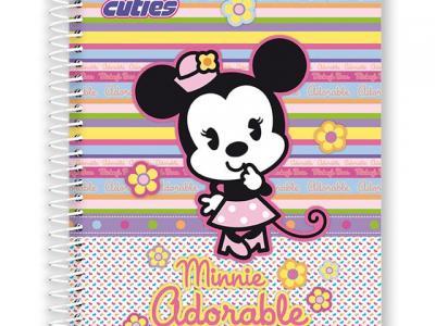 Caderno universitário capa dura 96 folhas - Disney Cuties - R$ 9,90 - Kalunga