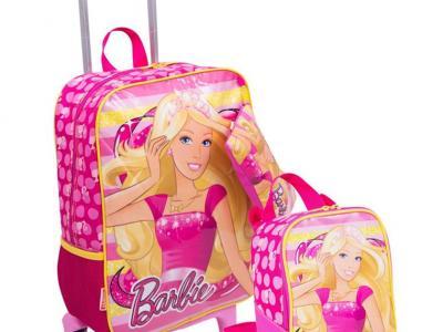 São Gonçalo Shopping_Bagaggio_Kit mochilete, lancheira e estojo Barbie