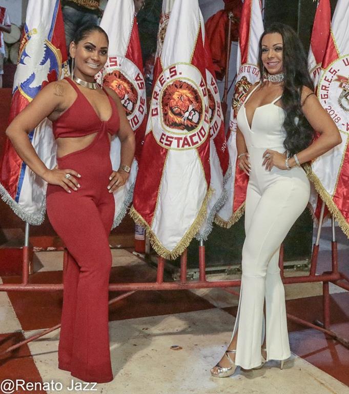 rainha de bateria Leyla barros e musa LEticia Guimarães