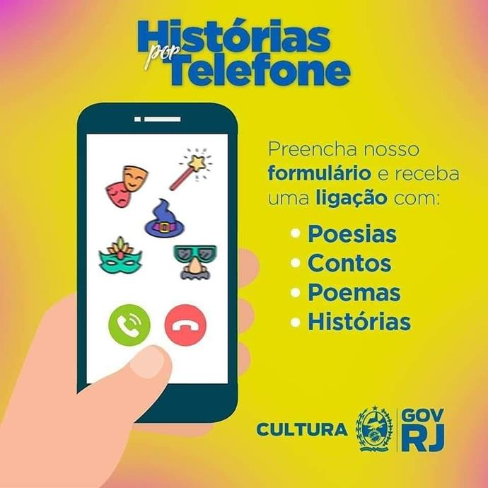 """""""Histórias por Telefone"""" traz serviço de leitura para idosos se entreter no período de reclusão"""