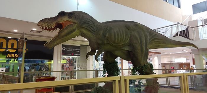 Parque dos Dinossauros no São Gonçalo Shopping