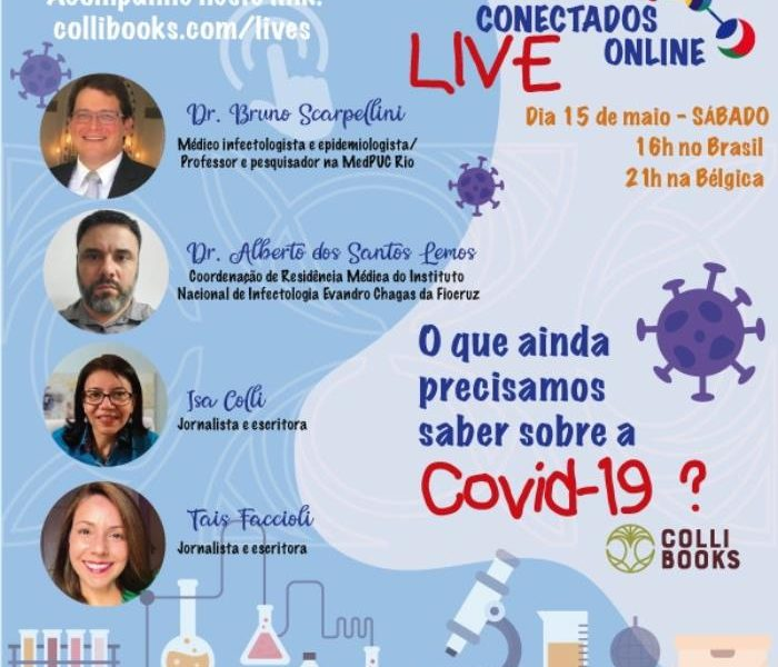 ditora Colli Books promove live com especialistas sobre covid-19